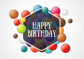 Cartão de aniversário Smarties vetor