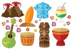 Vetor livre de ícones de havaí