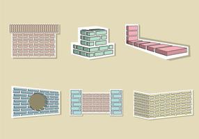 Vector de ilustração da camada de tijolos