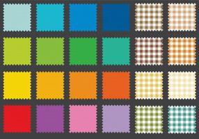 Swatches de tecido vetor