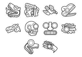 Vector de símbolos astecas