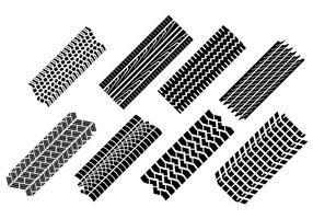 Vetor de marcas de pneu