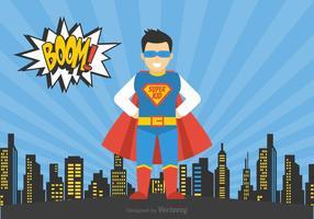 Vetor livre super-herói criança