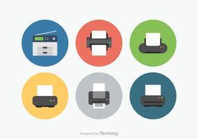 Ícones de vetor de impressora grátis