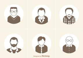 Conjunto de vetores de ícones do homem livre