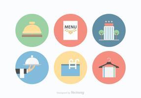 Ícones de ícones de serviços do hotel gratuitos vetor