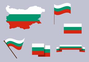 Vector de mapa da Bulgária grátis
