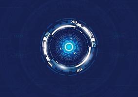 design de tecnologia digital de formas circulares azuis vetor