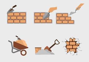 Vetor de construção de parede