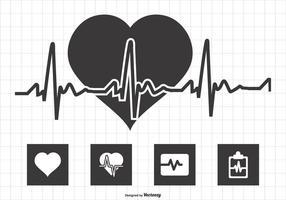 Ilustração do monitor cardíaco vetor