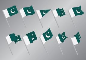 Livre pakistan bandeira ícones vetor