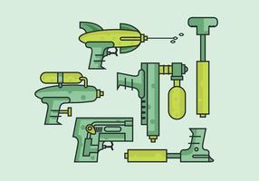 Arma de água vetorial vetor