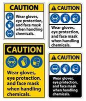 conjunto de sinal de advertência vetor