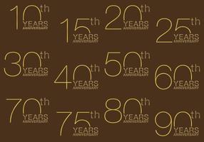 Títulos Aniversários de Ouro vetor