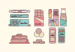 Coleção de vetores de doces