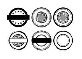 Formas do emblema do vetor