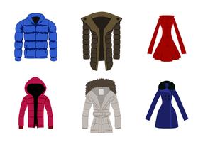 Vector de casaco de inverno livre