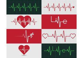 Gráfico do monitor do coração vetor