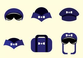 Vetores de chapéu piloto avion