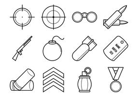 Pacote de vetores de ícones da guerra mundial livre