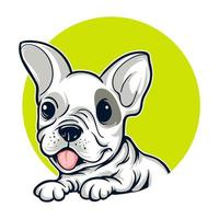 retrato de cachorro buldogue francês vetor
