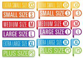 Banners de tamanho de roupa vetor