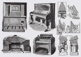 Órgãos antigos da tubulação vetor