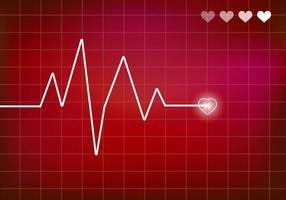 Vector do monitor cardíaco. Ekg.