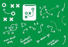 Gráficos de playbook handdrawn plays vetor