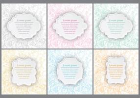 Convites florais do casamento vetor
