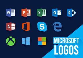 Ícones da Microsoft Vector de logos novos