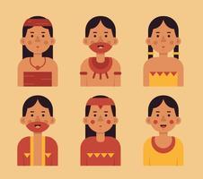 Vector Inca People