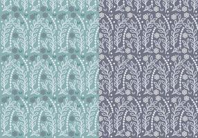 Conjunto de padrões de vetores do ramo floral azul