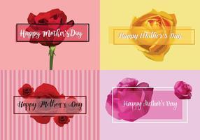 Cartões vetoriais gratuitos do dia das mães vetor