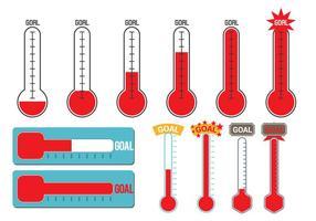 Vetor termômetro objetivo