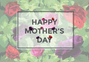 Vector de rosas grátis para o dia das mães