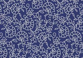 Esboço de padrão floral