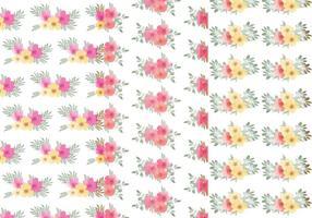 Conjunto de Padrões de Folha Floral vetor