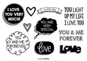Cute Doodles Do Amor vetor