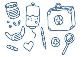 Elementos vetoriais médicos de estilo livre vetor