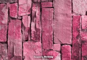 Vector Realistic Red / Pink Stonewall Texture