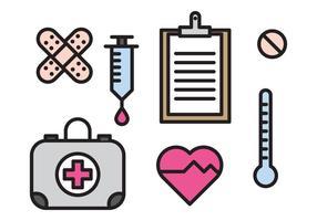 Elementos médicos vetor
