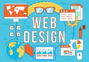Ícones de vetores de web design grátis
