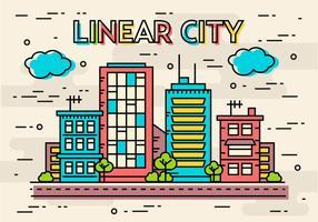 Conceito de imagem linear de vetor linear de design grátis