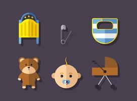 Conjunto de ícone do bebê do vetor