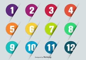 Pontos de bala de vetores com números