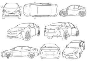 Ilustração gratuita de carro híbrido vetor