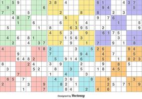 Vetor jogo de quebra-cabeça sudoku