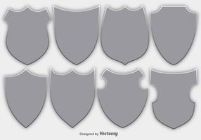 Vector Set Of Shields / Emblemas de Segurança