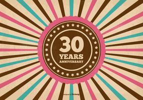 Ilustração do aniversário de 30 anos vetor